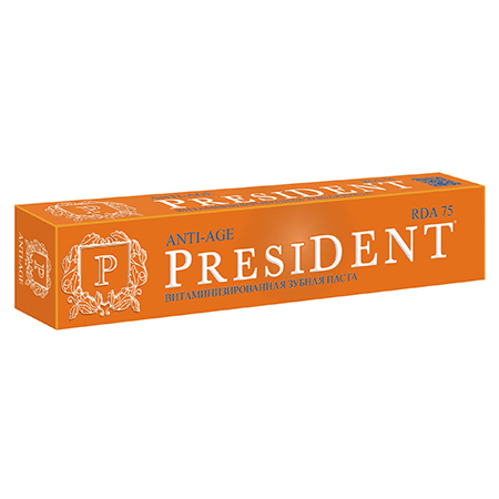 Зубная паста anti-age president набор гель kora набор anti age 5 факторов молодости