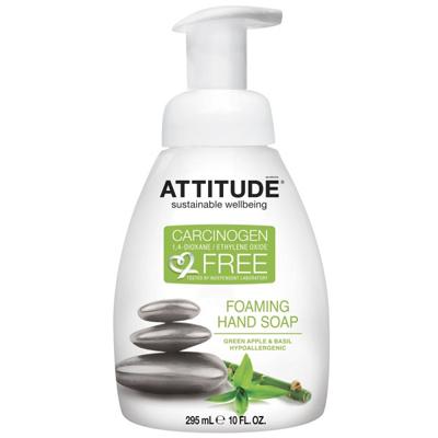 Жидкое мыло-пенка для рук зеленое яблоко и базилик attitude (Attitude)