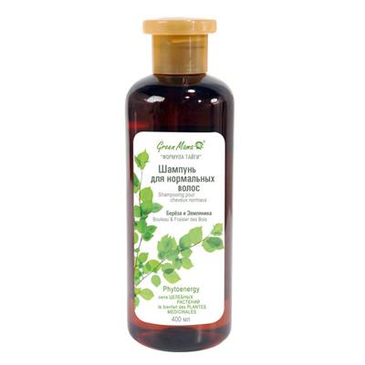 Шампунь для нормальных волос береза и земляника green mama (Green Mama)