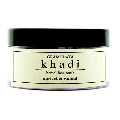 Питательный крем-скраб для лица с розой, абрикосом и грецким орехом indian khadi (Indian Khadi)
