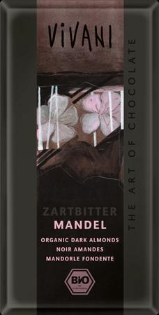 Темный шоколад с миндалем vivani