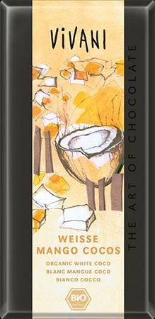 Белый шоколад с манго и кокосом vivani (Vivani)