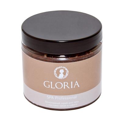 Шоколадный скраб для тела с маслами какао и карите gloria spa