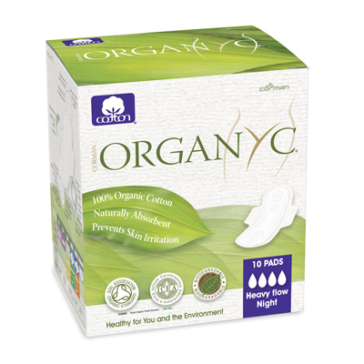 Прокладки с крылышками ночные ультратонкие 4 капли organyc (Organyc)