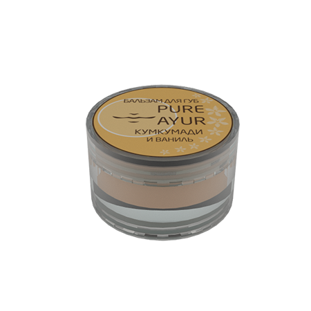 Бальзам для губ ваниль pure ayur (PURE AYUR - КУМКУМАДИ)