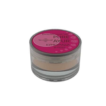 Бальзам для губ роза pure ayur (PURE AYUR - КУМКУМАДИ)