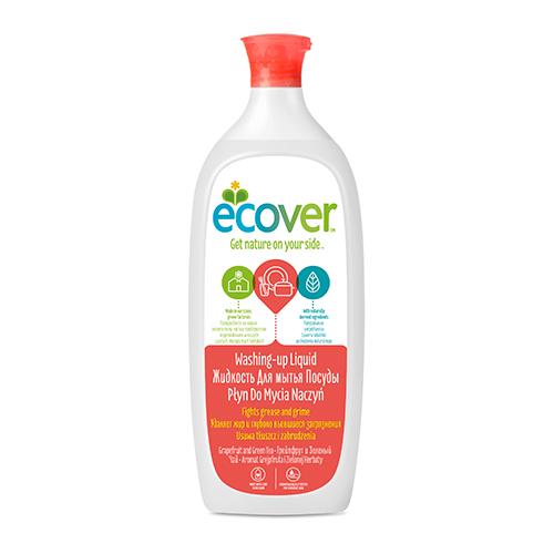 Экологическая жидкость (для мытья посуды) с грейпфрутом и зеленым чаем ecover (1000 мл) ecover экологическая жидкость для мытья посуды с лимоном и алоэ верой