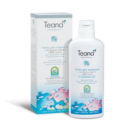 Пенка для умывания с ароматом персика тиана