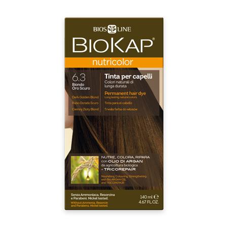 Стойкая натуральная крем-краска для волос biokap nutricolor (цвет темно-золотистый блондин) biosline NB630