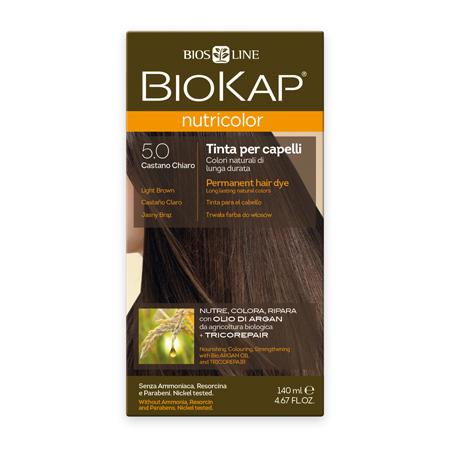 Стойкая натуральная крем-краска для волос biokap nutricolor (цвет светло-коричневый) biosline NB500