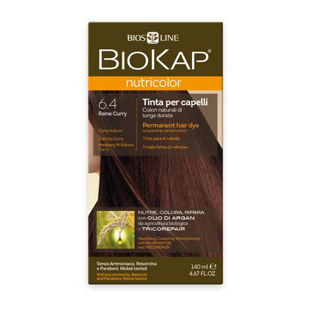 Стойкая натуральная крем-краска для волос biokap nutricolor (цвет медно-золотистый) biosline NB640