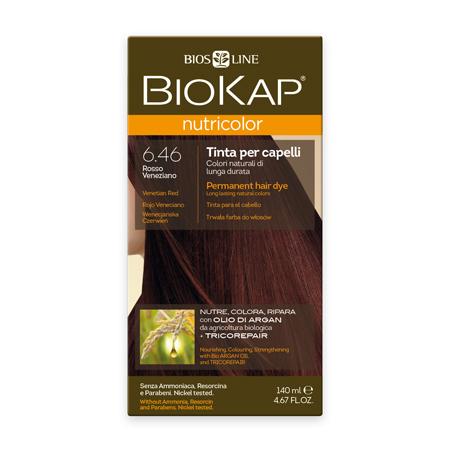 Стойкая натуральная крем-краска для волос biokap nutricolor (цвет венецианский красный) biosline NB646
