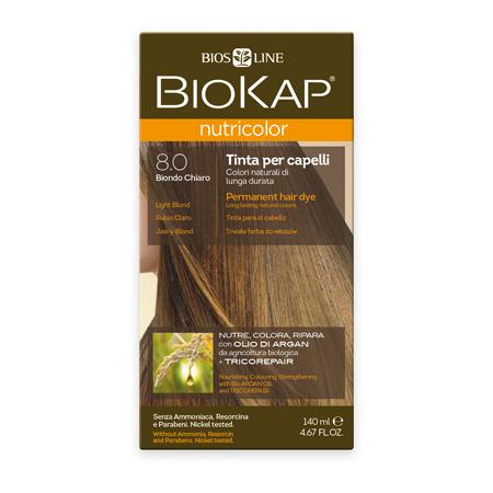 Стойкая натуральная крем-краска для волос biokap nutricolor (цвет светлый блондин) biosline NB800