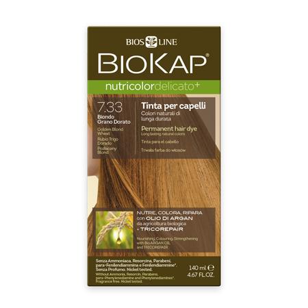 Стойкая крем-краска для чувствительных волос biokap nutricolor delicato (цвет золотисто-пшеничный блондин) biosline ND733