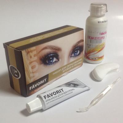 Набор для окрашивания бровей и ресниц (№3,1 светло - коричневый) favorit (FAVORIT)