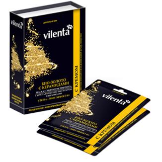Плацентарно-коллагеновая маска био золото и керамидами + крем vilenta (Vilenta)