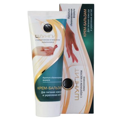 Крем-бальзам для питания кожи рук и укрепления ногтей шунгит крем бархат ночной для интенсивного питания рук шунгит