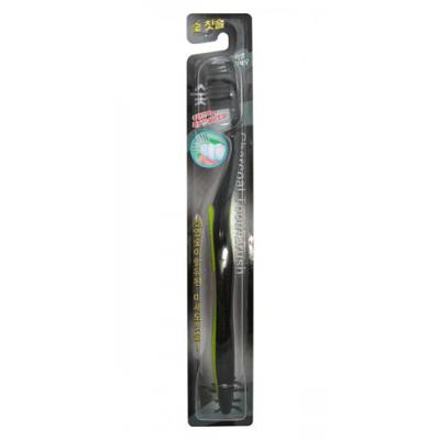 Зубная щетка с древесным углем тонкой щетиной средней жесткости стандартная чистящая головка eq maxon (EQ MAXON)