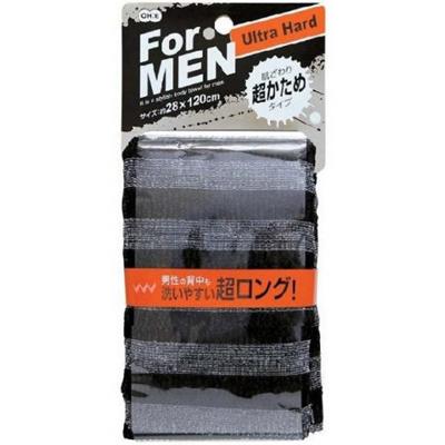 Мочалка массажная для мужчин сверхжесткая черная o-he (O-HE)