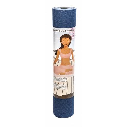 Коврик для йоги лотос light синий yoga