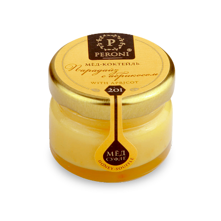 Мёд-коктейль парадайз с абрикосом №201 30 мл peroni honey