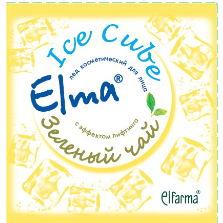 Косметический лед elma с эффектом лифтинга зеленый чай эльфарма (Эльфарма)