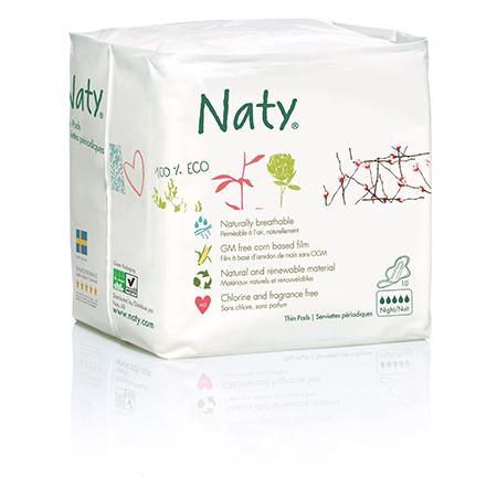 Прокладки night 10 шт naty D10199
