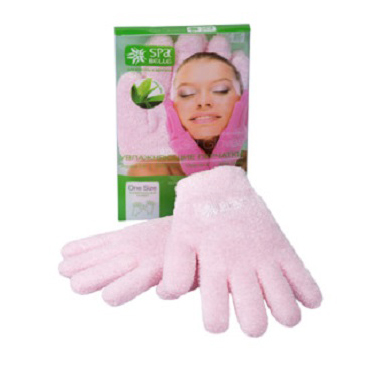 Увлажняющие гелевые перчатки цвет розовый с алоэ spa belle (SPA Belle)