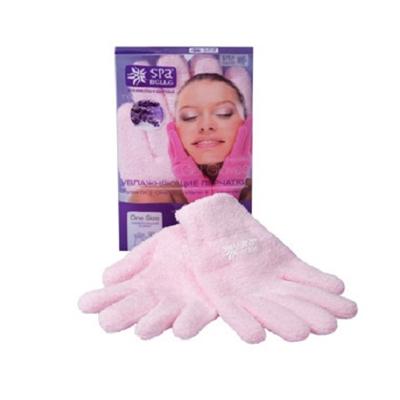 Увлажняющие гелевые перчатки цвет розовый с лавандой spa belle (SPA Belle)