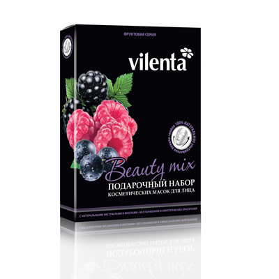 Подарочный набор косметических масок для лица фруктовая серия vilenta ВТК0007