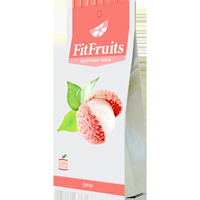Фруктовые чипсы личи fitfruits