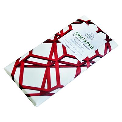 Ремесленный шоколад кунжут и клюква 70% бритарев (Бритарев)