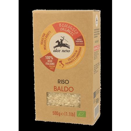 Белый органический рис baldo 500 гр alce nero