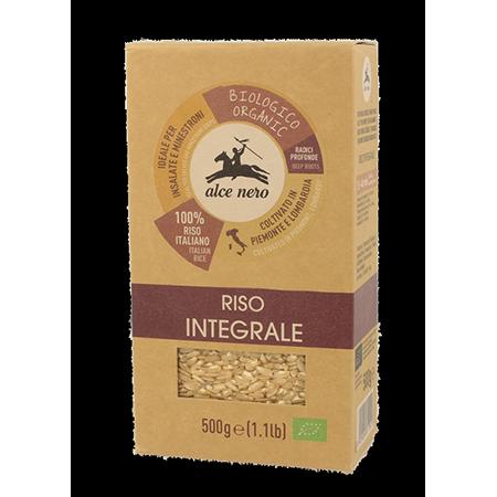 Органический нешлифованный коричневый рис baldo 500 гр alce nero