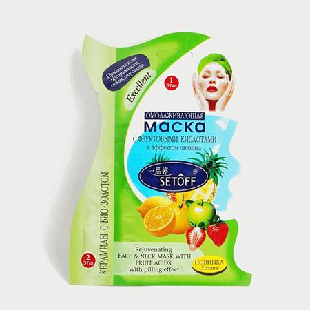 Муляжная маска для лица омолаживающая с фруктовыми кислотами и эффектом пилинга тианде (ТианДе)