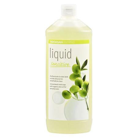 Жидкое мыло для чуствительной кожи 1000 мл sodasan косметика для мамы sodasan жидкое мыло для чувствительной кожи 1000 мл