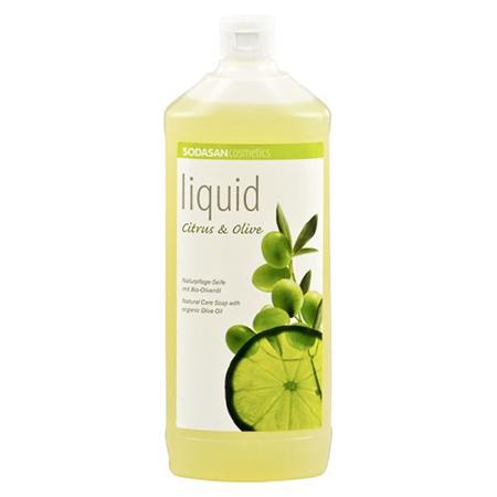 Жидкое мыло цитрус-олива 1000 мл sodasan косметика для мамы sodasan жидкое мыло лаванда олива 1000 мл