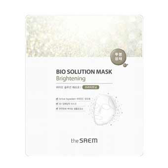 Био-маска для лица осветляющая bio solution the saem (The Saem)