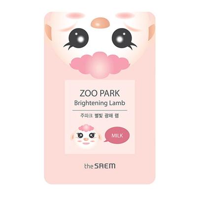 Осветляющая тканевая маска с молочными протеинами zoo park ягненок the saem (The Saem)