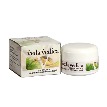 Купить со скидкой Крем для лица защитный и успокаивающий veda vedica
