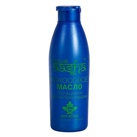 Масло для волос кокосовое с брингараджем aasha herbals