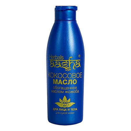 Масло кокосовое для лица и тела с жожоба aasha herbals