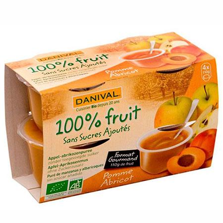 Фруктовый десерт яблоко - абрикос danival