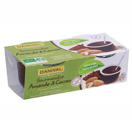 Десерт миндаль и какао danival