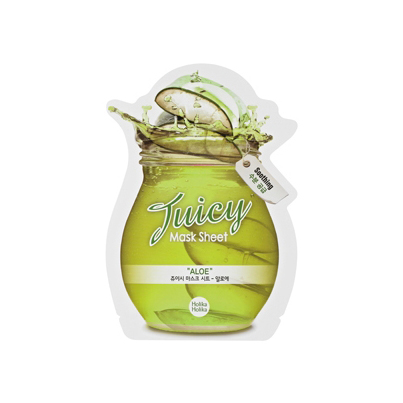 Маска для лица сок алоэ juicy mask sheet holika holika (Holika Holika)