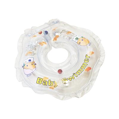 Детский надувной круг для купания прозрачный внутри погремушка baby swimmer (Baby Swimmer)