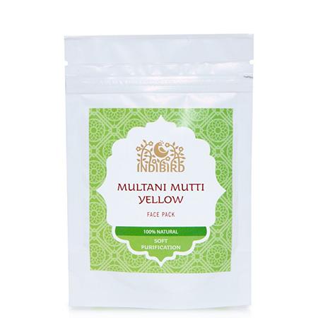 Маска для лица сухая (multani mutti) желтая амрита 50 гр