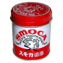 Зубной порошок для курящих со вкусом мяты и зимней зелени smoca pink (SMOCA)