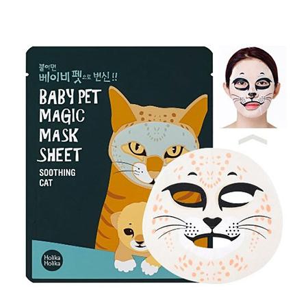 Тканевая маска кошка baby pet holika holika holika holika тканевая маска успокаивающая огурец