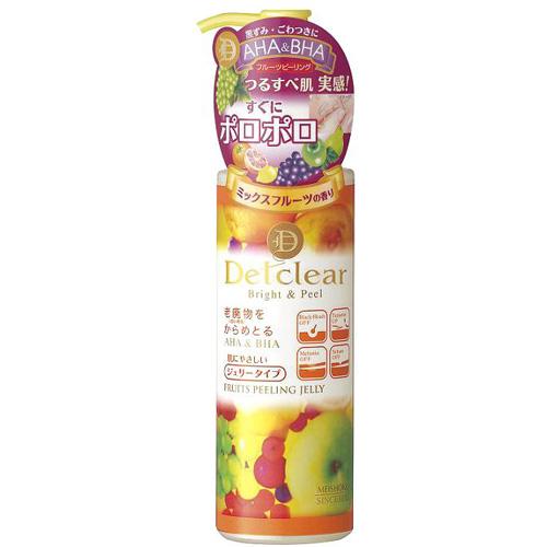 Очищающий пилинг-гель с aha и bha с эффектом сильного скатывания с ароматом фруктов meishoku detclear (Meishoku)